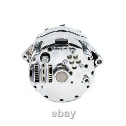 Nouveau Alternateur Chrome Bbc Sbc Chevy 105 Amp 1 Fil Haute Sortie Un Fil Ra00114