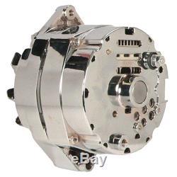 Nouveau Alternateur Chrome Bbc Sbc Chevy 110 Amp 3 Fils Ho 7127-105c 240-203-3dc 10si