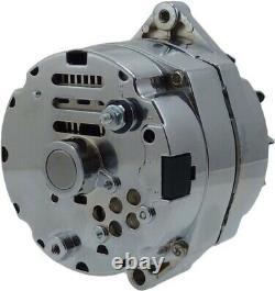 Nouveau Chrome 1-wire 10si Alternator Sbc Bbc Chevy 1965-86 110 Amp 7127nse-100a-c