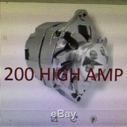 Nouveau Chrome Pour Chevy Gm Gm Sbc Bbc Chevy Alternateur 1 Fil Élevé 200amp