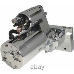 Nouveau Démarreur 3hp Pour Sbc Bbc Chevy 305 350 454 Super Torque Mt200 Ultimate Chrome