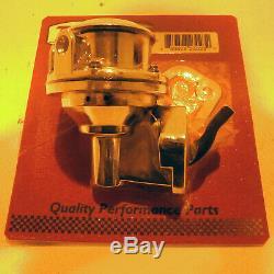 Nouveau Sbc Chevy High Volume Remplacement Chrome Mécanique Pompe À Essence 305 350 400