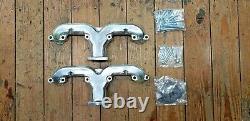 Nouveau Smooth Rams Horn Exhaust Manifolds, Petit Bloc Chevy, Chrome Argent Céramique
