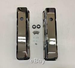 Nouveau V8 Small Block Chevy Grand Lisse En Aluminium Chromé Culbuteurs 283 350 305