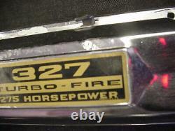 Original 65 66 67 327 Couvertures De Valve Chrome Chevrolet Chevy II De Petit Bloc L79