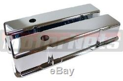 Petit Aluminium Chrome Bloc Chevy Sbc Valve Cover 283 305 327 350 400 Shortstock