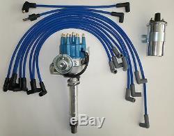 Petit Bloc Chevrolet Bleu Petit Hei Distributeur + Plug Wires Disruptive VC + 45k Bobine