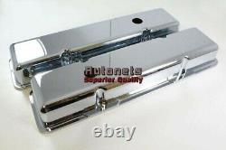 Petit Bloc Chevy 283 305 327 350 383 400 Chrome Cast Revêtement Valve En Aluminium Sbc