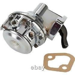 Petit Bloc Chevy 80 Gph Mech Pump/supply Kit, 4150 Log, 6an, Chrome