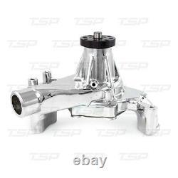 Petit Bloc Chevy Aluminium Long Water Pump 350 400 Hi Flow Chrome Reverse Rotaio