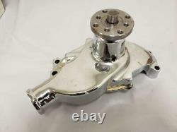 Petit Bloc Chevy Chrome Aluminium Pompe À Eau Courte Sbc 283 327 350 Hv Vente