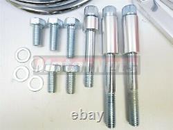 Petit Bloc Chevy Chrome Saginaw Power Steering Pump + Bracket Kit Keyway Pulley