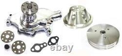 Petit Bloc Chevy Chrome Short Water Pump + 1 / 2 Groove Crankshaft Pulley Kit