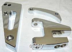 Petit Bloc Chevy Court Pompe À Eau Alternateur Support Kit Sbc Swp Chrome