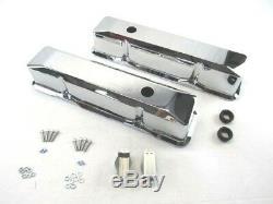 Petit Bloc Chevy Grand Aluminium Valve Lisse Couvre Retro Chrome Bpe-2013c