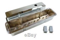 Petit Bloc Chevy Grand Couvercle De Soupape Encastré En Aluminium Chrome 283 305 350 383 Sbc