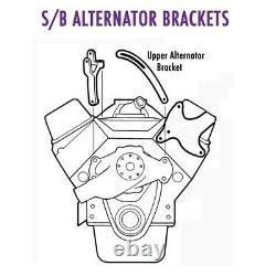 Petit Bloc Chevy Upper Alternator Bracket, Chrome
