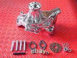 Pompe À Eau Haute Volume Chrome Short Pump Small Block Chevy 68 Retour 327 283 350