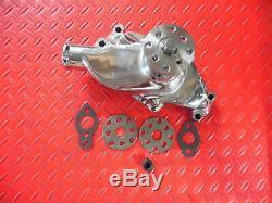 Pompe À Eau Volume Élevé Chrome Short Pump Small Block Chevy 68 Retour 327 283 350