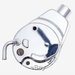 Pompe De Direction Électrique Chromés Supports De Poulie De Pompe Chevy P 305 350 Saginaw 400