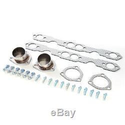Pour 55-57 Sbc 4.3l / 4.6l 265/283 Small Block Hugger Tri-5 Manifold Shorty Tête