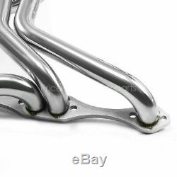 Pour 70-87 Chevy Sbc 267-400 En Acier Inoxydable V8 Long Tube D'échappement En-tête Ss