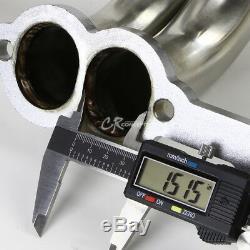 Pour 84-91 Chevy Gmt C / K 5.0 / 5.7 V8 Sbc Collecteur D'échappement En Acier Inoxydable Embase + Joints