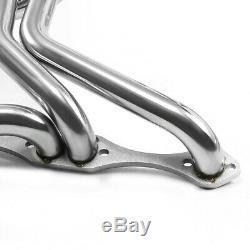 Pour Chevy Sbc 267-400 V8 En Acier Inoxydable Long Tube En-tête Du Collecteur D'échappement 70-87