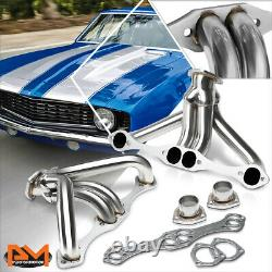 Pour Chevy Sbc Small Block V8 262-400 Angle Plug Hugger Exhaust Header Manifold