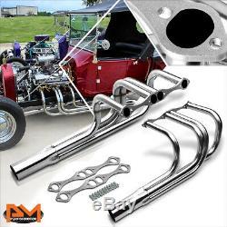 Pour Chevy Sbc V8 265-400 Rue T-bucket Rod Inoxydable D'échappement En-tête Du Collecteur