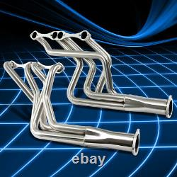 Pour Chevy Small Block Sbc 283/305/307/350/400 Long Tube Header Manifold Exhaust