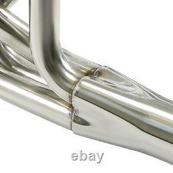 Pour Chevy Small Block V8 Sbc 260-400 Droite / Angle Plug-tête Du Collecteur D'échappement