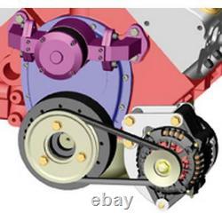 Powermaster Alternator Bracket 770 Chrome Faible Montage Pour Chevy 262-400 Sbc