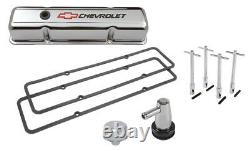 Proform 141-905k2 Kit De Couvercle De Valve Chrome 1958-1986 Petit Bloc Chevy Comprend C