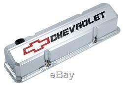 Proform 141-930 Slant Edge Qui Couvre Valve Petit Bloc Chevy Chrome En Aluminium Coulé