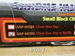 Proform Low Profile Chrome Clear-line Top Baffle Valve Covers Small Block Chevy