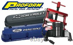 Proform Small Block Chevy Chrome Tall Valve Couvre 2 Pc P/n 141-844