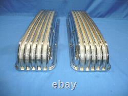 Rare Nos 1960 Japan Chrome En Aluminium Couvercles De Valve Finlandais Chevy 327 350 Jour 2