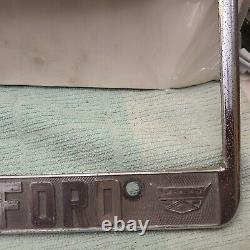 Rare Vintage Los Angeles City Ford Concessionnaire Licence Mustang Fairlane Galaxie F-150