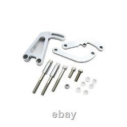 Rpc Power Pump Bracket R4368 Billet Chrome, Lwp Pour Chevy 262-400 Sbc