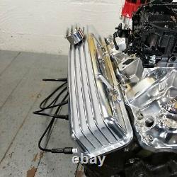 Sb Chevy Chrome Finned Valve Moteur Couvre Respirateurs Petit Bloc 327 350 1958-79