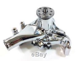 Sb Chevy Long Pompe À Eau Sbc 283 327 350 383 400 Aluminium Chrome À Volume Élevé