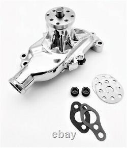 Sb Chevy Pompe À Eau Court Sbc 283 327 350 V8 Haut Volume En Aluminium Chrome 350c Hv