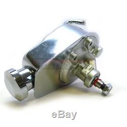 Sb Chevy Sbc Chrome Saginaw Direction Assistée Pompe + Support + Aluminium Poulie Lwp Swp