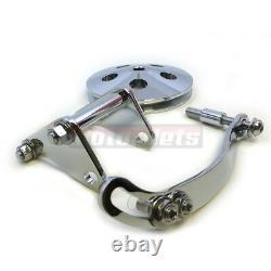 Sb Chevy Sbc Chrome Saginaw Power Steering Pump+bracket+aluminum Pulley Lwp Swp