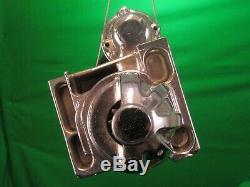 Sbc Bbc 305 350 454 Chrome Chevy Staggered Bolt Mini Starter 3hp 6449c-mbk