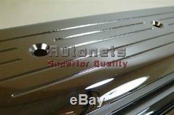 Sbc Chevy 305, 350 Centerbolt Chrome En Aluminium Couvercle De Valve Ball-mill 5.0 5.7