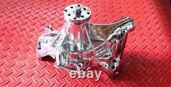 Sbc Chevy Chrome Chevrolet Long Water Pump Volume Élevé 350 400 Petit Bloc