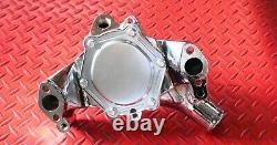 Sbc Chevy Chrome Chevrolet Longue Pompe À Eau Volume Élevé 350 400 Petit Bloc