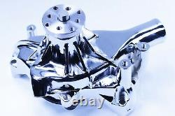 Sbc Chevy Chrome Longue Pompe À Eau Pompe À Eau Pompe À Alimentation - Chrome Alternator 130w